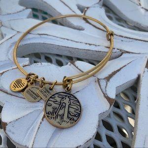 Alex & Ani Gold Tone Lighthouse Bracelet